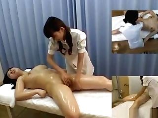 Huge-titted Asian Lady Massaged Getting Her Coochie Fondled By The Masseuse On The M