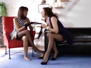 Nylon Kink Girl-on-girl Joy With Brit Matures