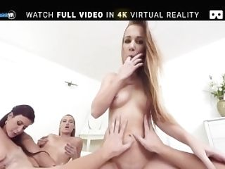 Badoink Vr Group Hookup With Awesome Teenagers Alexis, Billie And Victoria