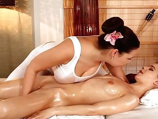 Fluffy Darkhaired Honey Thrills Skinn With Sabrina Spice And Barely Legal Years Old