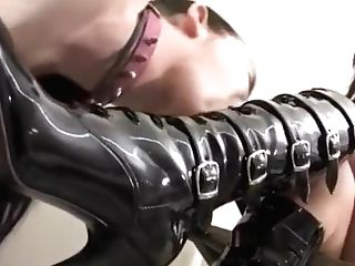 Miss Tiffany Boots Gobbling Fuck Toy