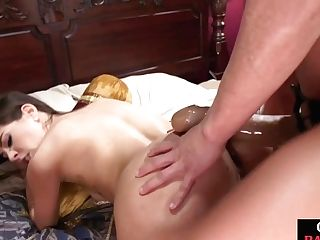 Stunner Is Mad With Her Booty Streching It With A Humungous Belt Cock