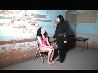 Jail Lady Is Searched And Chained