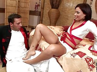Sylvia Laurent Gives Footjob And Plays With Her Thicket