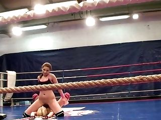 Angel Rivas And Niky Gold Fighting To Control In The Backstage Fighting Clip