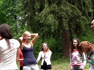 Albina & Hailey Ariana & Felony & Lindsey & Francheska & Angela In Orgy Movie Flashing Lusty Chicks Shagging In Nature