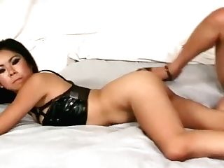 A Duo Of Horny Girl/girl Stunners Use A Strap Dildo To Have Some Joy