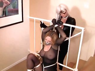 Girl-on-girl Huge-boobed Libertines Tying Obsession With Kat