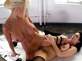 Blonde Jelena Jensen With Big Tits Has Some Time To Get Some Pleasure With Lesbo Puma Swede